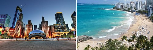Chicago, Illinois and San Juan, Puerto Rico
