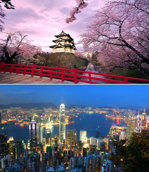 Hong Kong and Tokyo